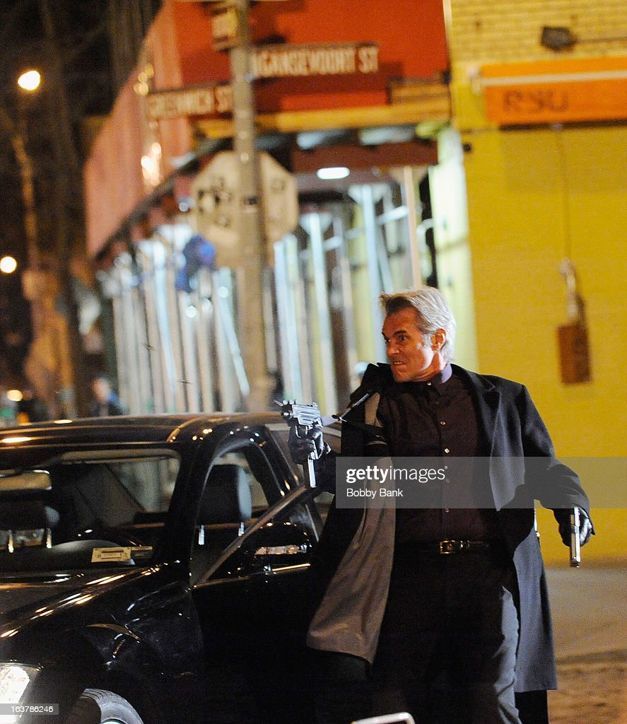 Atmosphere filming on location for 'Blue Bloods' on March 15, 2013 in New York City.