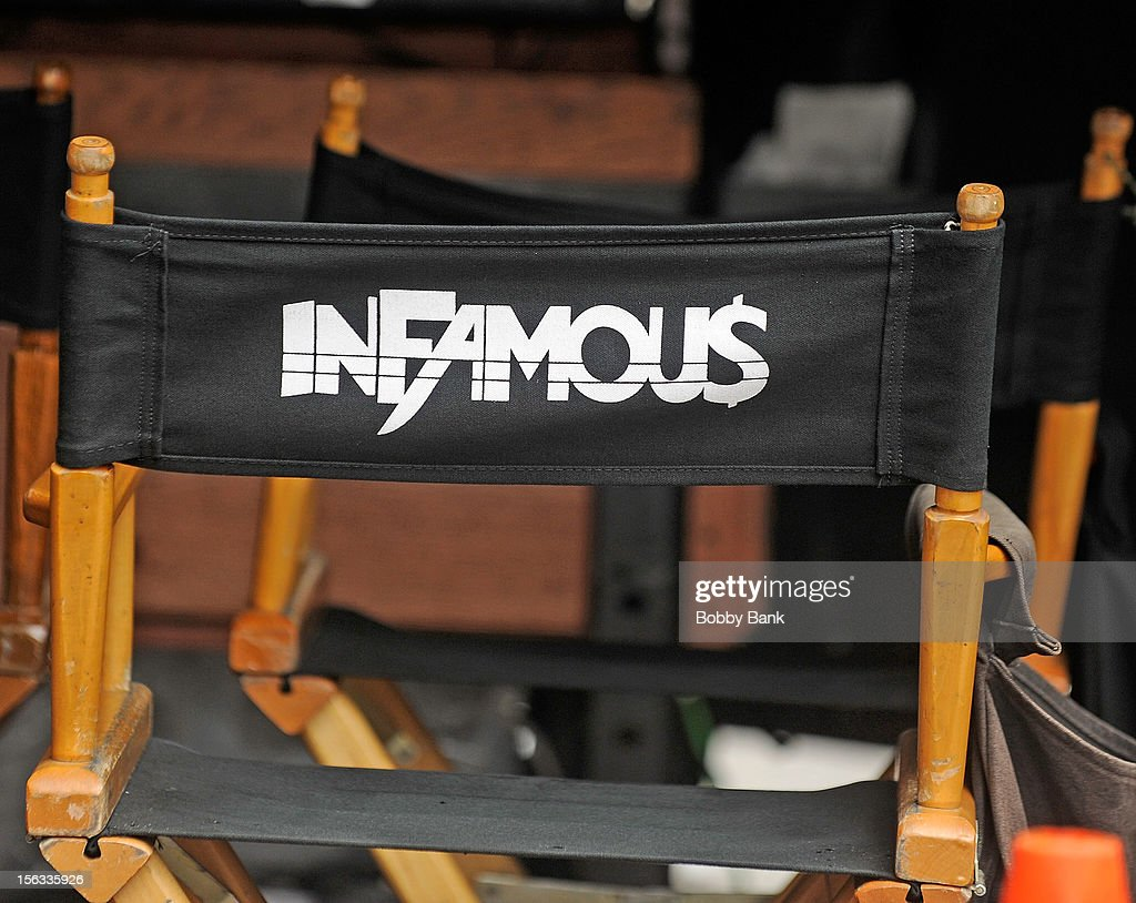 Atmosphere filming on location for 'Infamous' on November 13, 2012 in New York City.