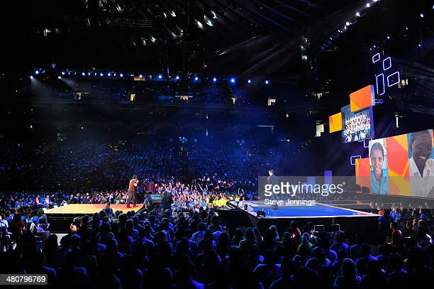 Atmosphere in Oakland CA at the first We Day California at ORACLE Arena on March 26 2014 in Oakland California