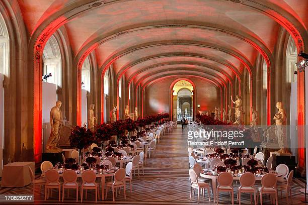 Atmosphere in the Louvre whyle 'Liaisons Au Louvre III' Charity Gala Dinner Hosted by American International Friends of Le Louvre at Cour Carree du...