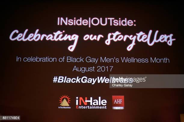 Atmosphere is seen at AIDS Healthcare Foundation iNHale Entertainment Partner To Host 'INside | OUTside Celebrating Our Storytellers Multimedia...