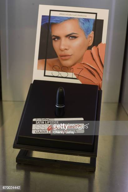 Atmosphere is seen at MAC Cosmetics Appearance with Beauty Influencers Laura Lee Gabriel Zamora at MAC The Grove at The Grove on April 18 2017 in Los...