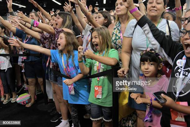 Atmosphere is seen at the Nickelodeon Booth at VidCon 2017 at Anaheim Convention Center on June 24 2017 in Anaheim California