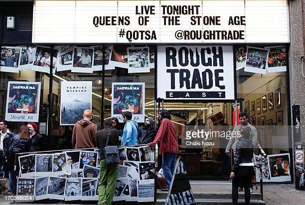 Atmosphere of Queen Of The Stone Age instore gig at Rough Trade East on June 11 2013 in London England