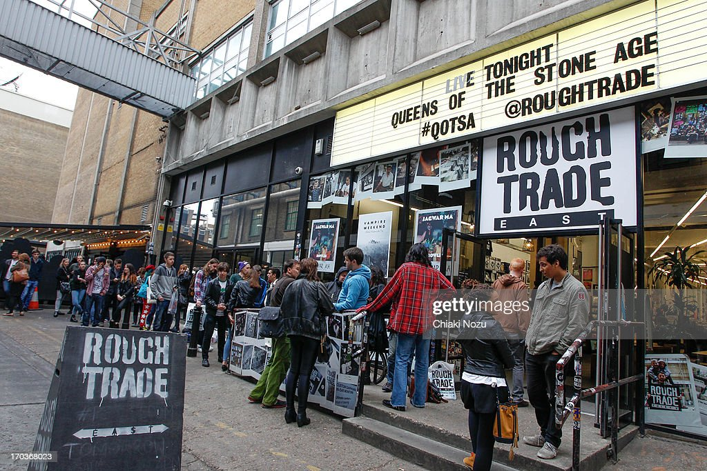 Atmosphere of Queens Of The Stone Age instore gig at Rough Trade East on June 11, 2013 in London, England.