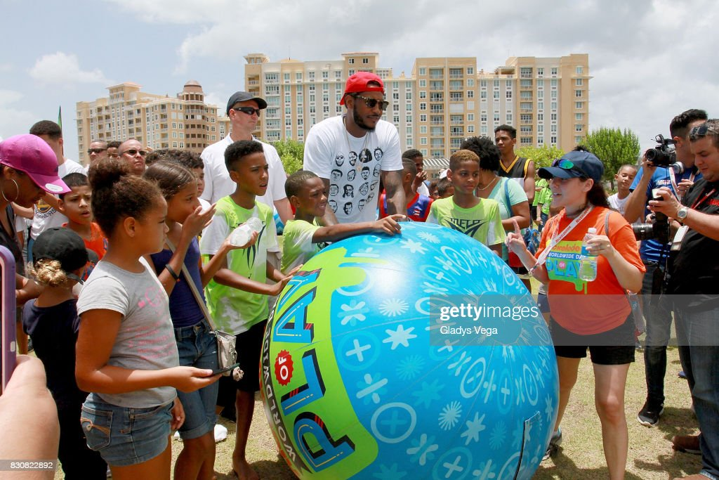 Atmosphere of Worldwide Day of Play at Bahia Urbana Bay Side Park on August 12, 2017 in San Juan, Puerto Rico.