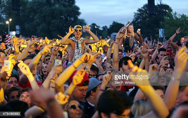 Atmosphere on day 2 of the New Look Wireless Festival at Finsbury Park on July 4 2015 in London England