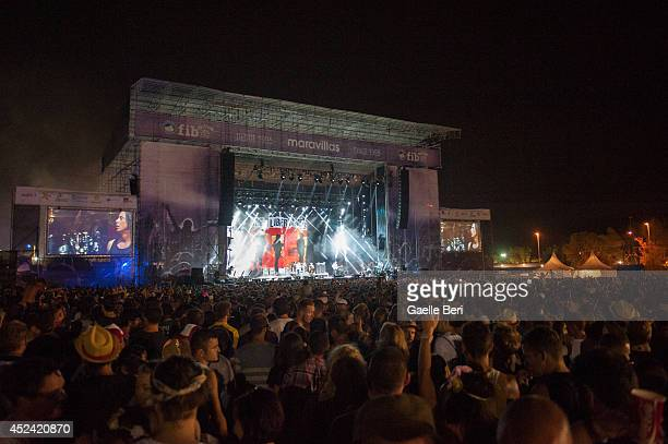 Atmosphere on Day 3 of Benicassim Music Festival on July 19 2014 in Benicasim Spain