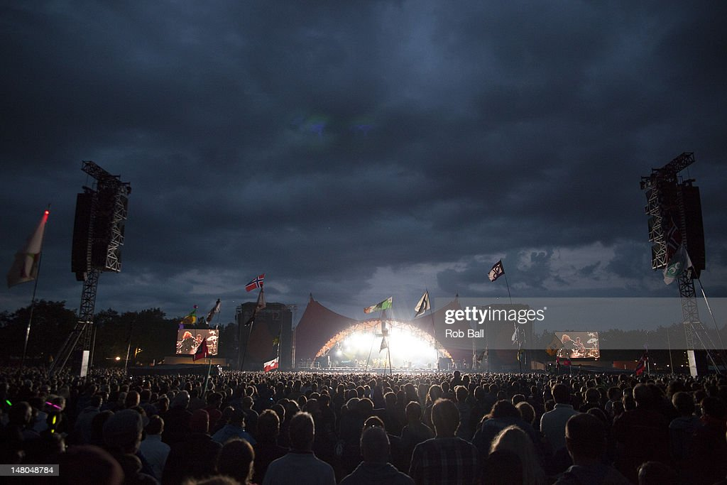 Atmosphere on the Orange Stage on day four of Roskilde Festival on July 8, 2012 in Roskilde, Denmark.