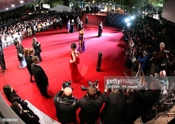 Atmosphere on the red carpet during the world premiere of 'Quantum Of Solace' at the Odeon Leicester Square in central London