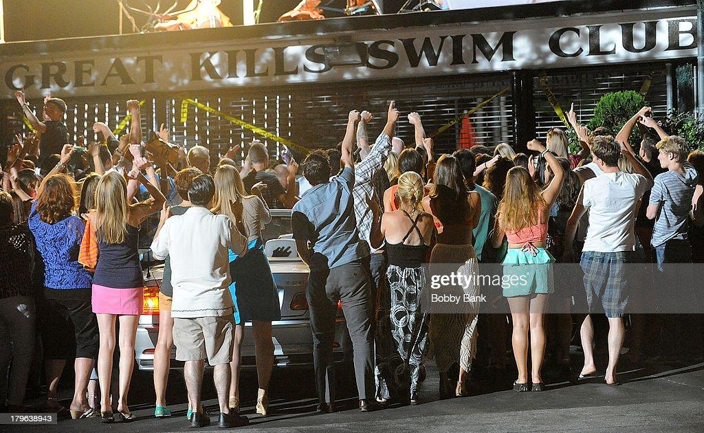 Atmosphere on the set of 'Staten Island Summer' on September 5, 2013 in Staten Island, New York.