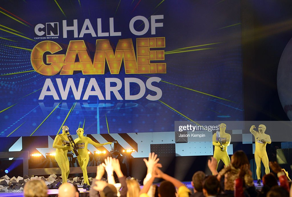 Atmosphere onstage during the Third Annual Hall of Game Awards hosted by Cartoon Network at Barker Hangar on February 9, 2013 in Santa Monica, California. 23270_003_JK_0229.JPG