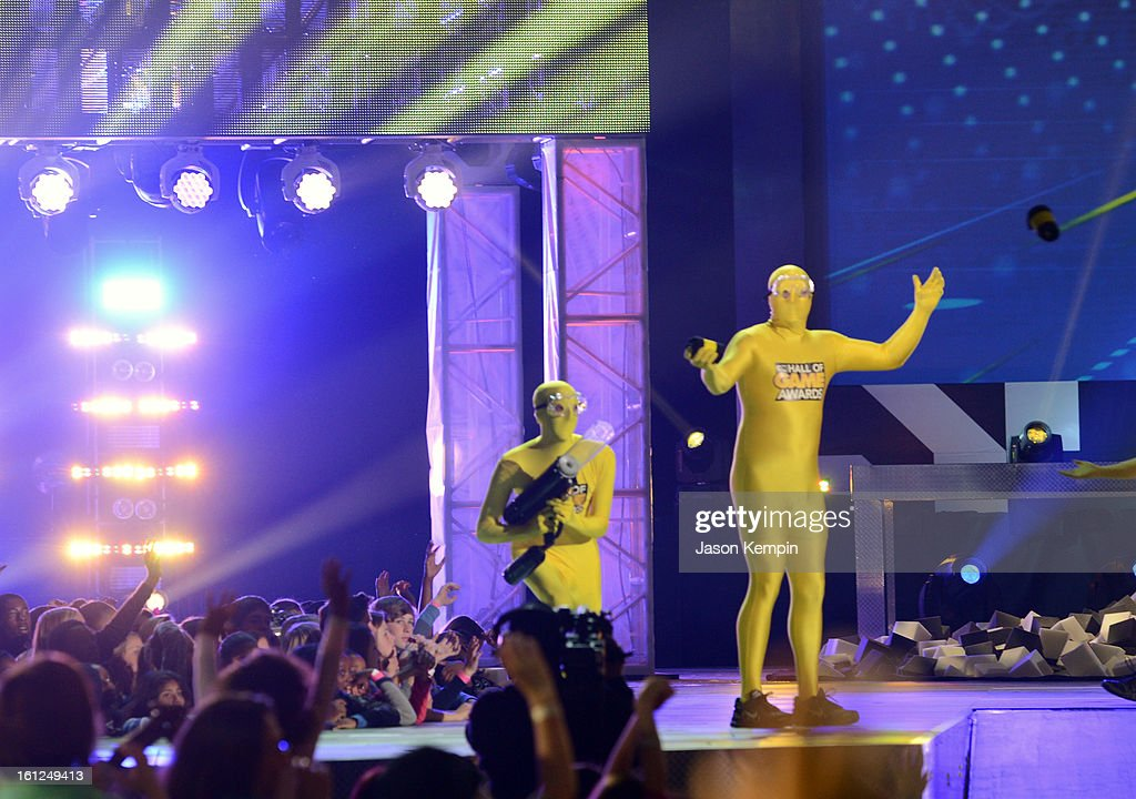 Atmosphere onstage during the Third Annual Hall of Game Awards hosted by Cartoon Network at Barker Hangar on February 9, 2013 in Santa Monica, California. 23270_003_JK_0231.JPG