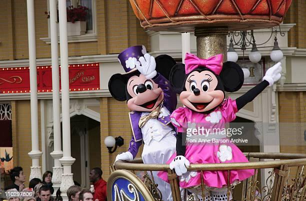 Atmosphere Parade during Disneyland Paris 15th Anniversary Celebration at Disneyland Paris in MarneLaVallee / Paris France