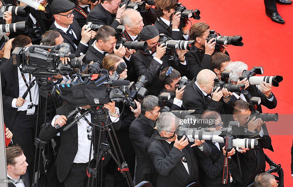Atmosphere photographers at the Closing Ceremony during 67th Cannes Film Festival