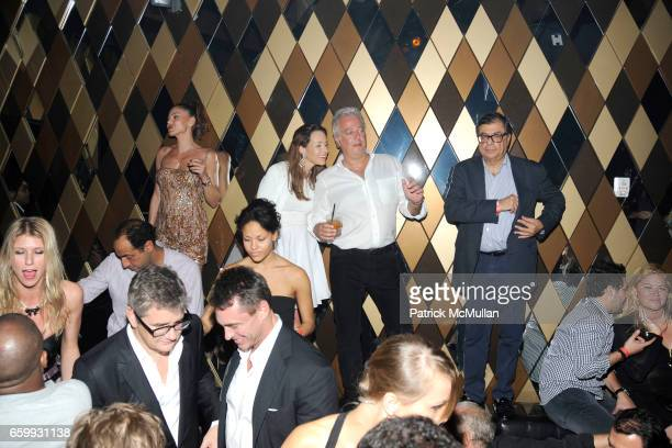 Atmosphere Samantha Boardman Rosen Aby Rosen and Bob Colacello attend Party at WALL Hosted by VITO SCHNABEL STAVROS NIARCHOS ALEX DELLAL at WALL at...