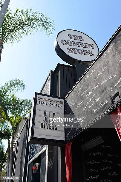 Atmosphere shot of the marquee at the Comedy Store honoring the late comedienne Joan Rivers on September 4 2014 in Los Angeles California