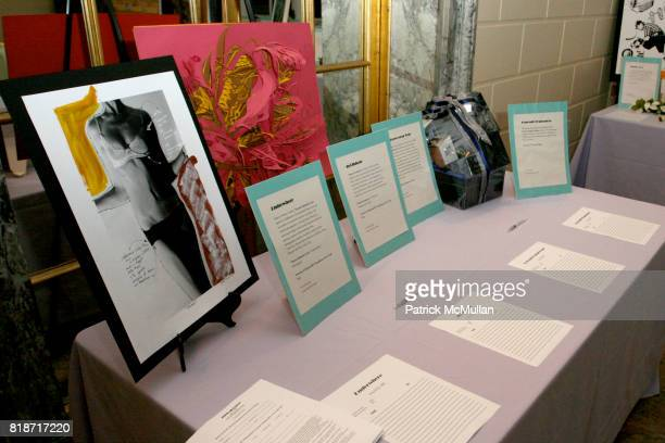 Atmosphere Silent Auction attends The YOUNG PATRONS CIRCLE of AMERICAN FRIENDS Hosts SOIREE AU LOUVRE at Payne Whitney Mansion on June 3 2010
