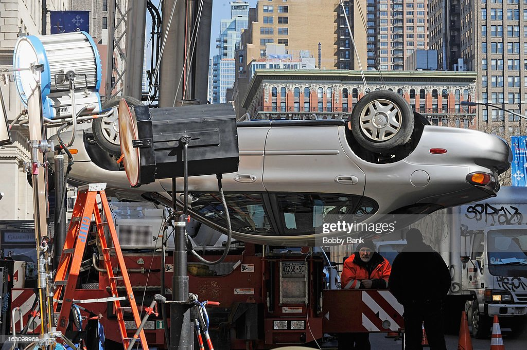 Atmosphere stunt filming on location for 'The Amazing Spider-Man 2' on March 4, 2013 in New York City.