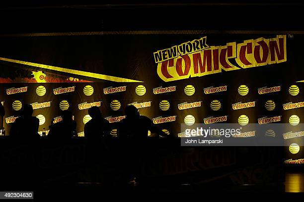 Atmosphere Supermansion panel discussion at New York ComicCon 2015 day 4 at the Jacob K Javits Convention Center on October 11 2015 in New York City
