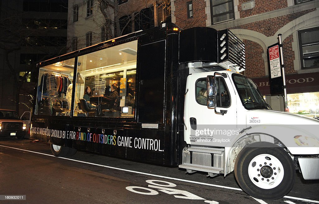 Atmosphere view of the Stella Artois truck during the Band Of Outsiders Fashion Week Mens Collection After Party held at the Monkey Bar on February 7, 2013 in New York City.