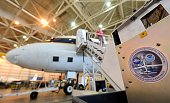 Atmospheric equipment awaits loading into NASA's highly modified Douglas DC8 jetliner which operates as a flying science laboratory as it is equipped...