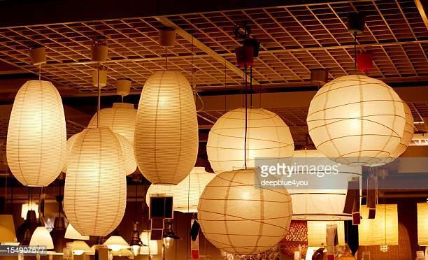atmospheric luminous paper lamps