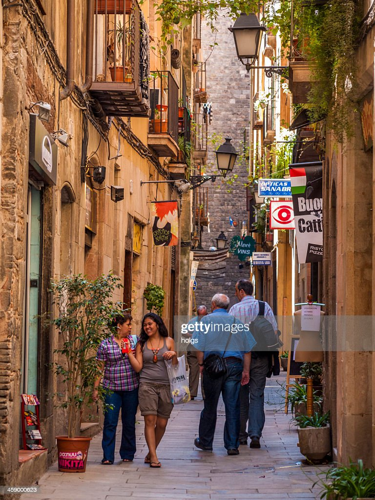 Atmospheric street, Barcelona : Stock Photo
