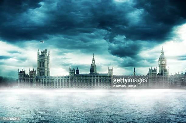 Atmospheric view of The Palace Of Westminster