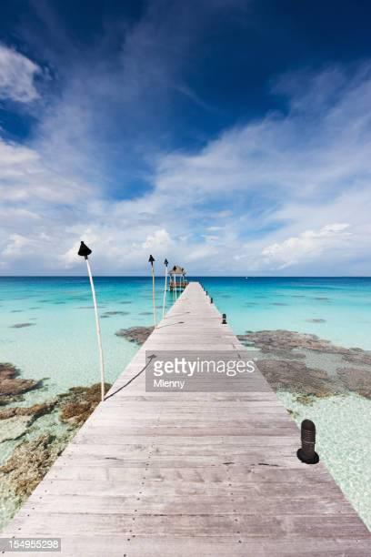 Atoll Jetty Tuamotu Archipelago Fakarava French Polynesia Summer Holidays