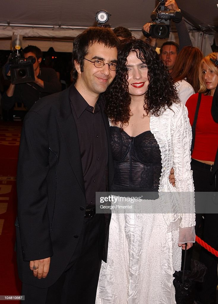 <a gi-track='captionPersonalityLinkClicked' href=/galleries/search?phrase=Atom+Egoyan&family=editorial&specificpeople=215428 ng-click='$event.stopPropagation()'>Atom Egoyan</a>, Dir. and ArsinZe Khanjian during 2002 Toronto Film Festival - Opening Night Gala - 'Ararat' Premiere in Toronto, Ontario, Canada.