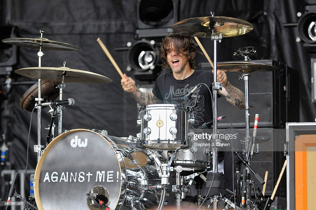 Atom Willard of Against Me performs during the 2014 Forecastle Music Festival at Louisville Waterfront Park on July 18, 2014 in Louisville, Kentucky.