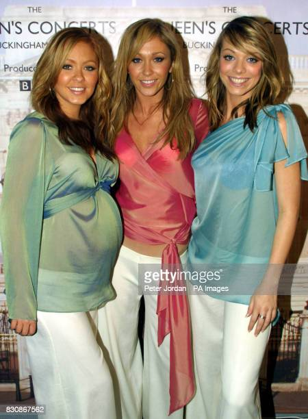 Atomic Kitten backstage at the Party at the Palace in Buckingham Palace for the second concert to commemorate the Golden Jubilee of Britain's Queen...
