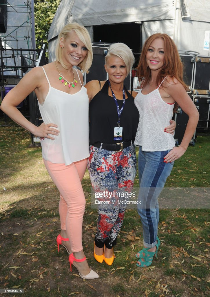 Atomic Kitten perform at the Dubai Duty Free Shergar Cup and concert at Ascot Racecourse on August 10 2013 in Ascot England