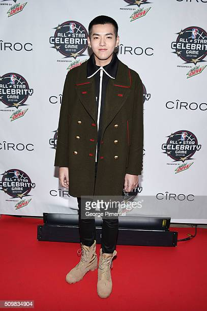 Ator Kris Wu attends the 2016 NBA AllStar Celebrity Game at Ricoh Coliseum on February 12 2016 in Toronto Canada