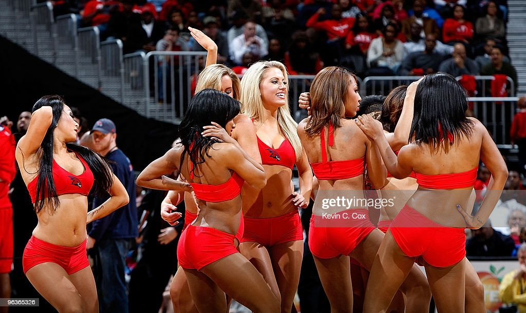Town Dancers perform during the game between the Atlanta Hawks and the Oklahoma City Thunder at Philips Arena on January 18 2010 in Atlanta Georgia...