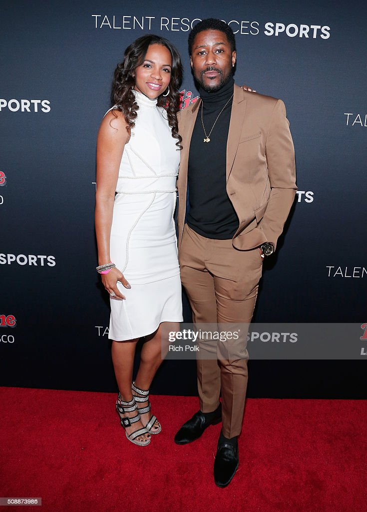 Atoya Burleson (L) and NFL player <a gi-track='captionPersonalityLinkClicked' href=/galleries/search?phrase=Nate+Burleson&family=editorial&specificpeople=206296 ng-click='$event.stopPropagation()'>Nate Burleson</a> attend Rolling Stone Live SF with Talent Resources on February 7, 2016 in San Francisco, California.