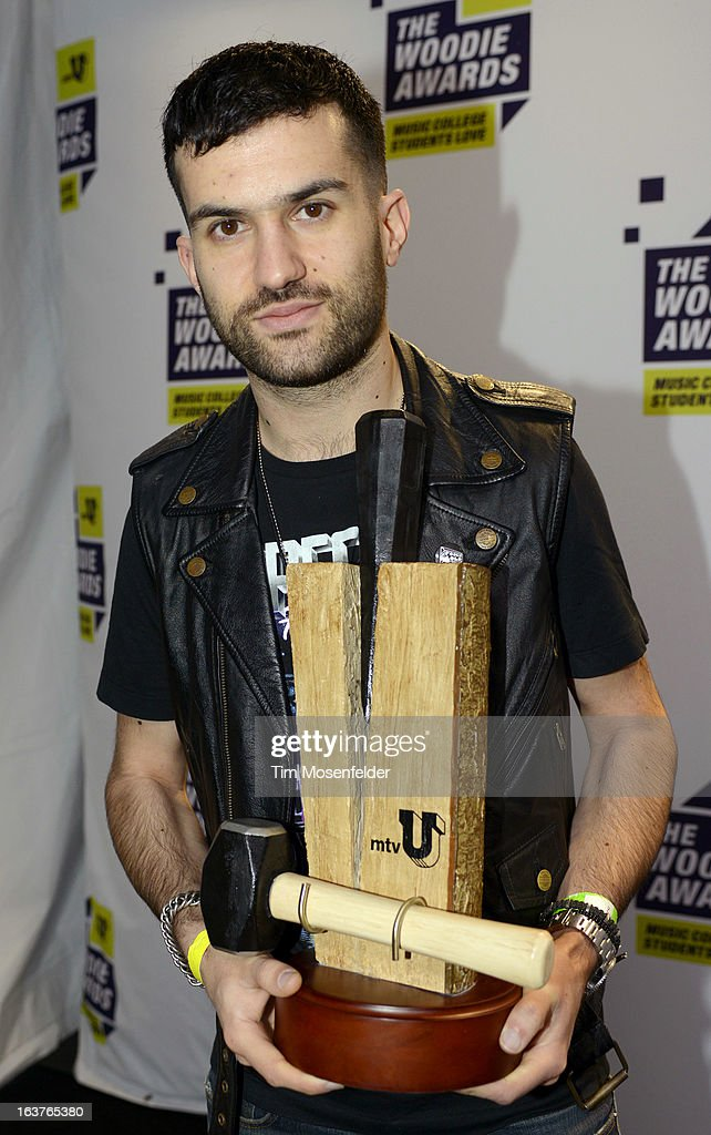 Trak poses at the mtvU Woodie Awards on March 14, 2013 in Austin, Texas.