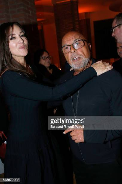 Atress Monica Bellucci and JeanBaptiste Mondino attend the 'Richard Wentworth a la Maison Alaia' Exhibition Opening at Azzedine Alaia Gallery on...