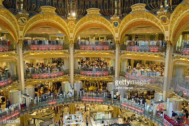 Atrium at Les Galleries Lafayette, Paris, France.