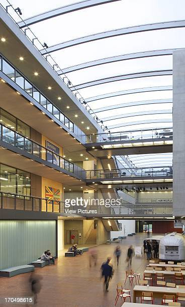 Atrium with students Central Saint Martins London United Kingdom Architect Stanton Williams 2011