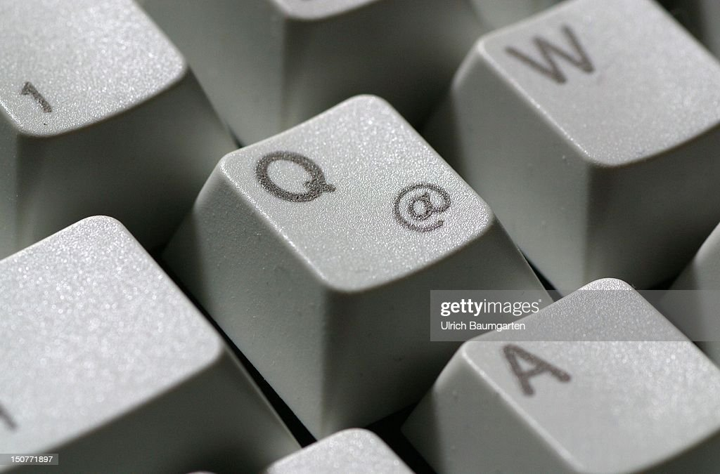Atsign of a computer keyboard
