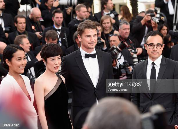 Atsuko Hirayanagi Shinobu Terajima Josh Hartnett and Han West attend the 'The Killing Of A Sacred Deer' screening during the 70th annual Cannes Film...