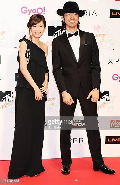 Atsuko Maeda and Nobuaki Kaneko attend the MTV Video Music Awards Japan 2013 at Makuhari Messe on June 22 2013 in Chiba Japan