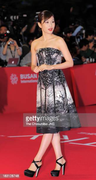 Atsuko Maeda arrives for the opening ceremony of the 18th Busan International Film Festival at Busan Cinema Center on October 3 2013 in Busan South...