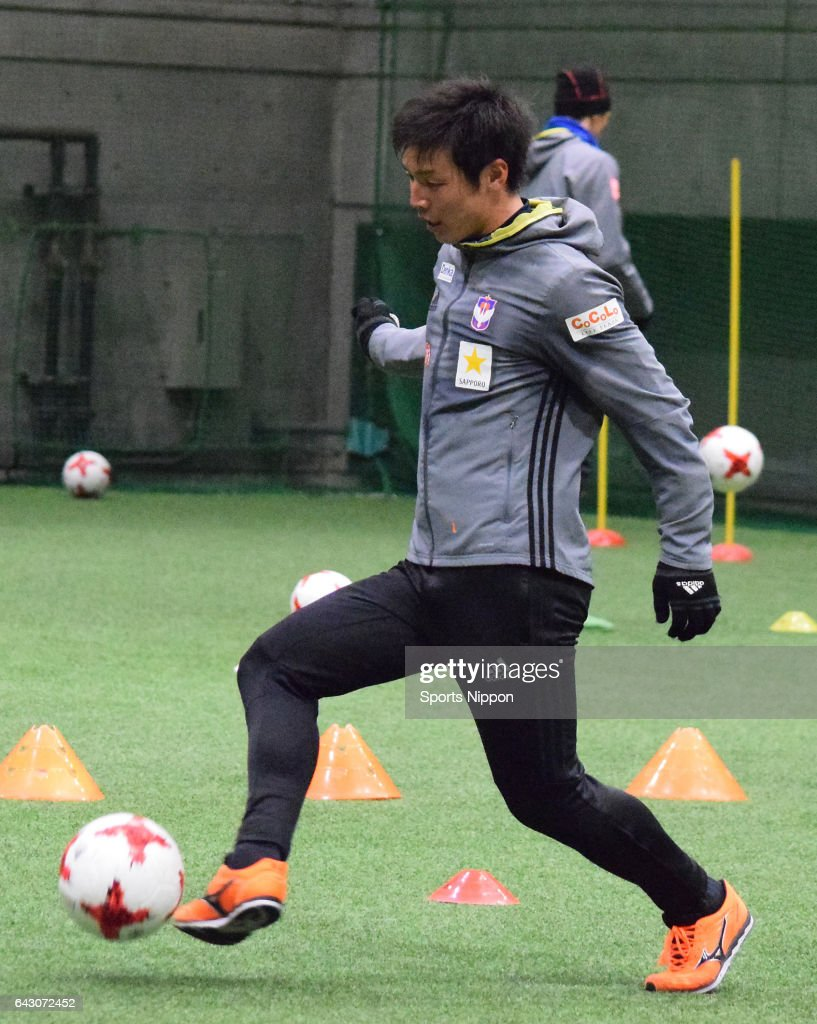 Atsushi Kawata of Albirex Niigata is seen dribbling circa January 14, 2017 in unspecified location in Japan.