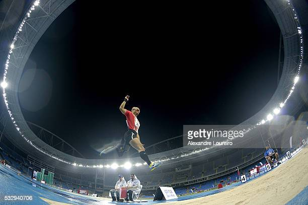 Atsushi Yamamoto competes the Men's Long Junp T44 Final during the Paralympics Athletics Grand Prix Aquece Rio Test Event for the Rio 2016 Olympics...