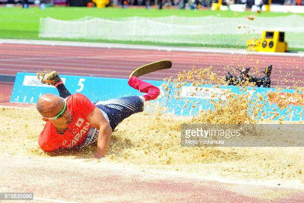 Atsushi Yamamoto of Japan competes in the Men's Long Jump T42 during Day Five of the IPC World ParaAthletics Championships 2017 London at London...