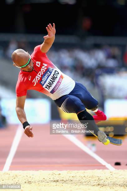 Atsushi Yamamoto of Japan competes in the Men's Long Jump T42 Final during Day Five of the IPC World ParaAthletics Championships 2017 London at...
