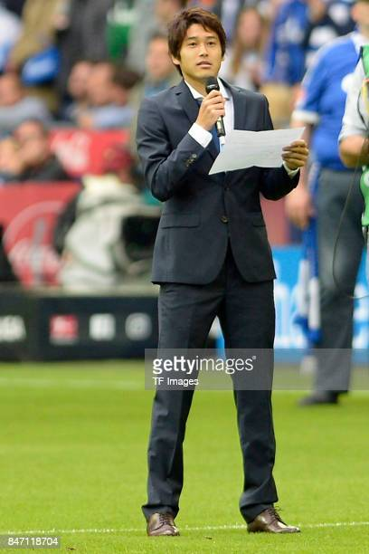 Atsuto Uchida looks on during the Bundesliga match between FC Schalke 04 and VfB Stuttgart at VeltinsArena on September 10 2017 in Gelsenkirchen...